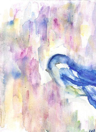 Abstract bluebird