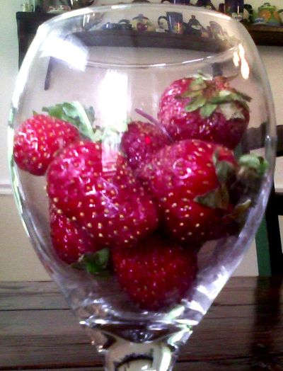 Stawberries in glass 2