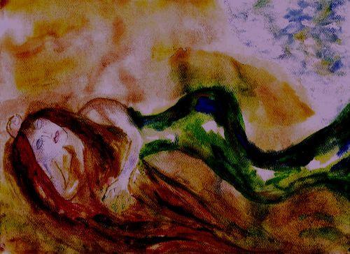 Sleeping mermaid 1