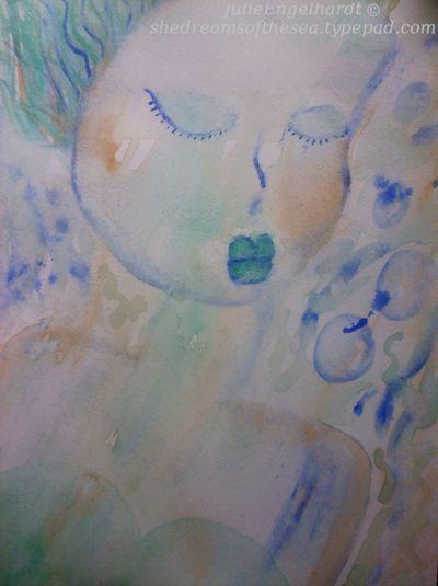 Under the sea dreaming mermaid