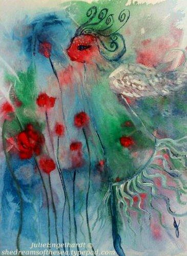 Dancing in a field of roses- Julie Engelhardt