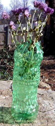 Upcycled plastic bottle vase 2 - Julie Engelhardt