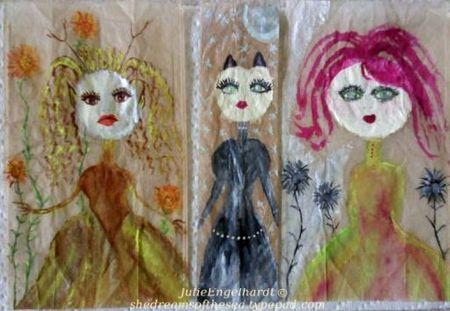 Tea bag art-julie engelhardt